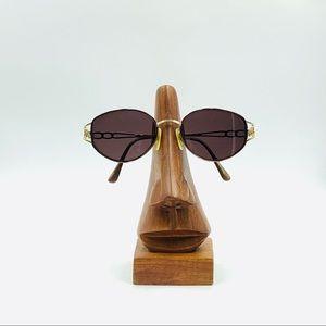Tura Gold Oval Sunglasses Frames